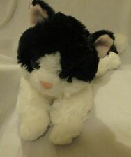 "Aurora World Plush - Flopsie - OREO the Black & White Cat 15"" Beanbag"