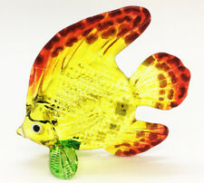 Miniature Estuary Perch Fish Hand Blown Glass Blowing Art Animal Decor Handmade