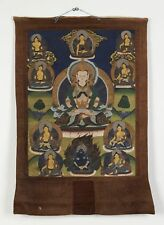 More details for antique chinese/tibetan thanka with buddha & gods 19th c.