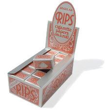 Neuf : Rips Standard Rouge Cigarette Papier à Rouler sur un Rouleau,24