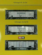 "BRAWA 2040, FS-NS-DB Set. n°3 Carri refrigeranti tipo Ibes ""INTERFRIGO"""