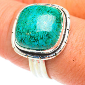 Chrysocolla 925 Sterling Silver Ring Size 9.25 Ana Co Jewelry R65766F