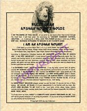 Rules In An Afghan Hound's House