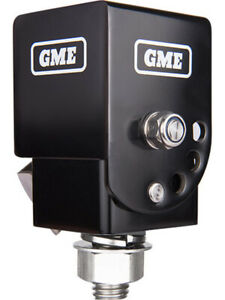 GME Black Fold Down UHF CB Antenna Mounting Bracket Foldable Heavy Duty (MB042B)