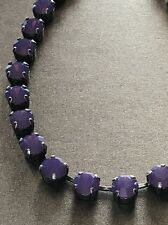 Fun Size Necklace Stunning Purple Amethyst Opal Swarovski Crystals In Silver