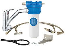 Alvito Einbau-Filtersystem Untertisch 3 Wege Wasserhahn Chrom Premium Höhe 18 cm