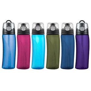 Thermos Tritan Hydration Water Bottle w/ Meter 710ml BPA Free Gym Sports Tumbler