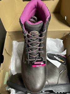 Brahma Diamond Steel Toe Brown/Pink Work Boot Women's Size 9.5 slip resistant