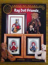 CROSS STITCH BOOKLET - RAG DOLL FRIENDS TEDDY BEAR RAGGEDY ANN AND ANDY