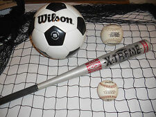 6'X6' BLK BASEBALL/SOFTBALLLACROSSE SPORTS GOAL NET, RECYCLED FISH NET #4526M10