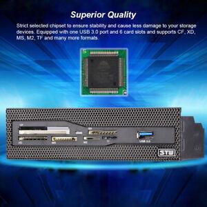 "STW 5.25"" Internal Card Reader Media Dashboard PC Front Panel USB 3.0 I9M3"