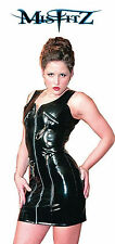 Misfitz black pvc sexy zip and clip dress all sizes 8-32 or made to measure