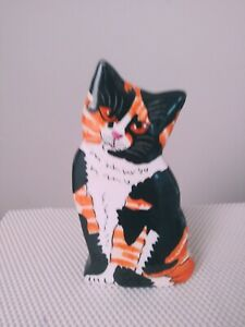 CALICO CAT VASE BY CATS BY NINA LYMAN