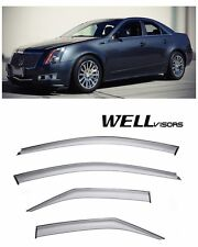 For 08-13 Cadillac CTS Sedan WellVisors Side Window Visors Premium Series
