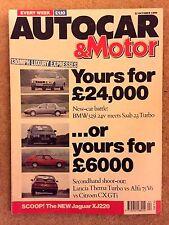 AUTOCAR MAGAZINE 31-OCT-90 - Fiesta RS Turbo, BMW 525i E34, Saab 9000S Turbo TCS