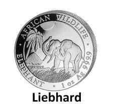 100 Schilling Somalia Silber African Wildlife Elefant / Elephant 1 OZ 2017
