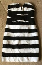 Ladies Black White strapless Bodycon Dress New With Tags M Party Clubbing Dress