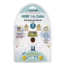 Lloytron A2003 3.0m Ultimate Collection HDMI 1.4a 3D TV HD Cable Gold Plated New