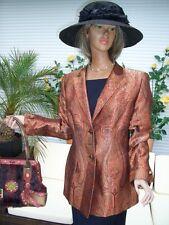 Lujo Couture Escada blazer paisley masalla Gold 36/38 np1180, boda Edel Golf