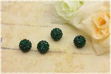 4pz perle svarowsky cristallo base in resina  verde smeraldo rhinestone crystal
