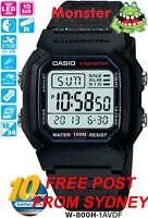 AUSSIE SELLER CASIO WATCH VINTAGE RETRO W-800H-1AV W800 W800H 12-MONTH WARRANTY