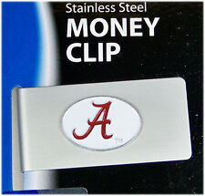 Alabama College Brushed Money Clip