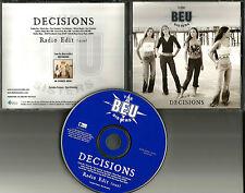 THE BEU SISTERS Decisions w/RARE EDIT PROMO Radio DJ CD single 2004 USA MINT