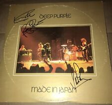 DEEP PURPLE MADE IN JAPAN SIGNED X3 LP JSA COA IAN GILLAN PACE ROGER GLOVER AUTO