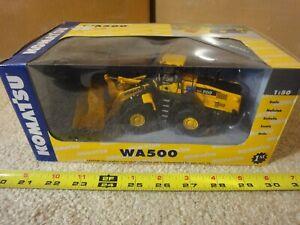 First Gear, Komatsu WA500 Wheel Loader, 1/50 diecast excavator model. NOS/New!