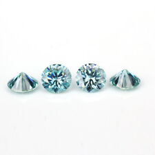 Light Blue Color VVS1 Round Cut Moissanite Stone Loose Gemstone With Certificate