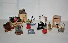 Vintage Dollhouse Miniature Accessories Lot Eggs Chicken Shopping Bag Christmas