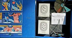 DIPTYQUE Carousel & Baies Feu de Bois 2 Candles 2.4 oz Marvelous Beasts Set Gift
