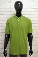 Polo Uomo KAPPA Taglia XL Maglietta Camicia Shirt Man Cotone Manica Corta Verde