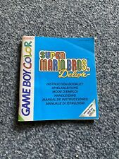 Super Mario Bros Deluxe Instruction Booklet Gameboy Color - Free UK Post.