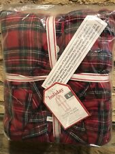 New Pottery Barn Kids Tartan Plaid Adult Loose Fit Pajama Size Large Christmas