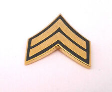 US ARMY RANK E4 CORPORAL (GREEN) Military Veteran Hat Pin 14425 HO