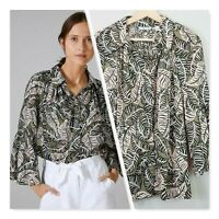 [ COUNTRY ROAD ] Womens Tribal Leaf Print Shirt NEW  |  Size AU 10 or US 6