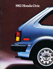1982 Honda Civic 20-page Original Car Sales Brochure Catalog
