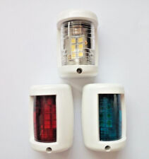 Marine Boat Mini Masthead/Starboard/Port Navigation Light 12V LED 3 Pcs