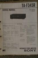Service Manual für Sony TA-F345R