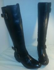 NEW  DOLCE VITA BLACK CAMBRIDGE KNEE HIGH LEATHER RIDING BOOTS WOMEN'S SIZE 6