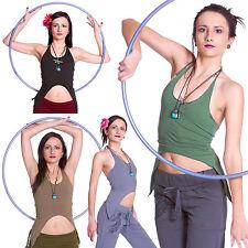 Backless Organic Pixie Top, Festival Yoga Clothing, Psy Trance Goa Boho Clothing