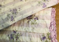 Simply Shabby Chic Cottage Purple Rose Floral 2 Quilted Shams - King
