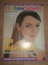 RAINBOW TICKETS MAGAZINE # 6 (NOVEMBER 24 - 30 2000) - MARTINE MCCUTCHEON COVER