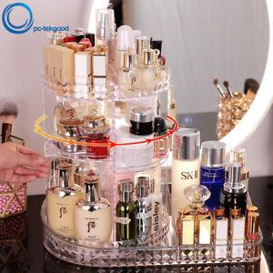 360-Degree Rotating Makeup Storage Box Cosmetic Organizer Lipstick Storage Rack