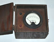 General Electric Type Do 41 Meter Fahrenheit 0 600 Degrees In Wood Case Vintage