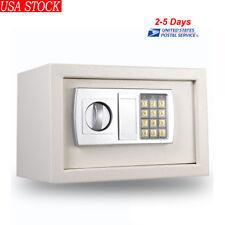 "12.2"" Electronic Digital Lock Keypad Safe Box Cash Jewelry Gun Safe White USA!"