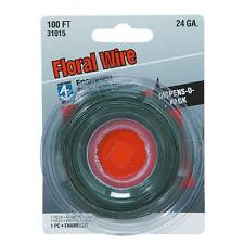 100 Pk Hillman Anchor Wire #24 Ga X 100' Green Floral And Craft Wire 123108