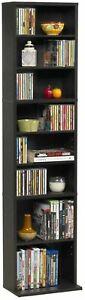 Media Storage Cabinet Game DVD Movie Tower Stable Organizer Stand Adjustable