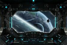 A1 | Spaceship Cockpit Poster Art Print 60 x 90cm 180gsm Alien Space Gift #8753